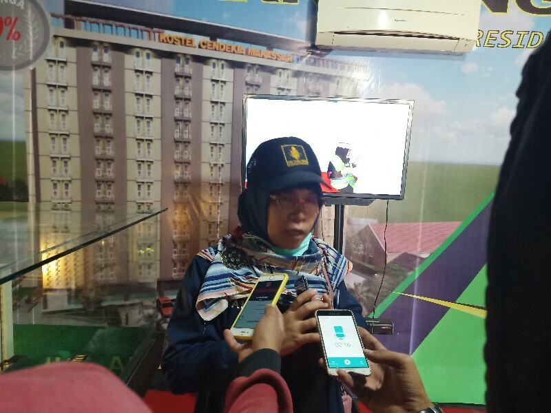 Direktur Marketing PT.Pilar Kreasi Mandiri Rukmawati saat memberikan Keterangan kepada awak media Sabtu (21/11/2020)